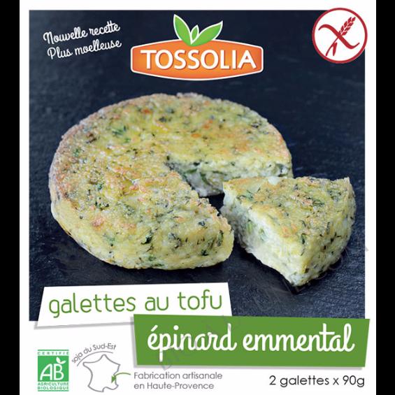 Galettes au tofu Épinards emmental
