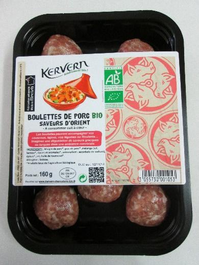 Boulettes de porc bio saveurs orient