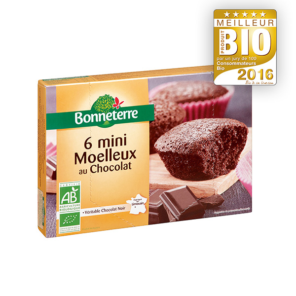 6 mini Moelleux au chocolat Bonneterre