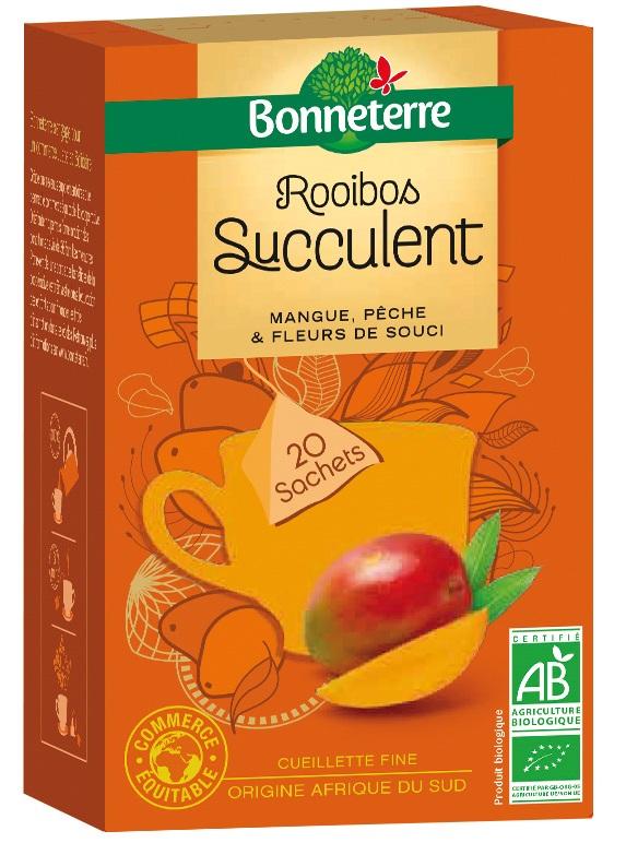 Rooibos Succulen mangue, pêche et fleurs de souci