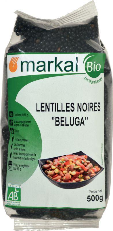 Lentilles noires Beluga