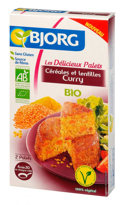 Délicieux Palets Céréales et Lentilles Curry Bio