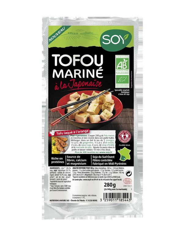Tofou mariné à la Japonaise