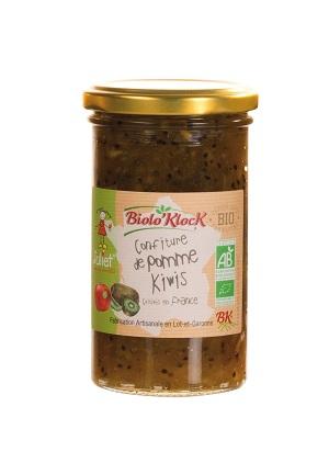 Confiture de Pommes Juliet - Kiwi bio - Biolo'Klock
