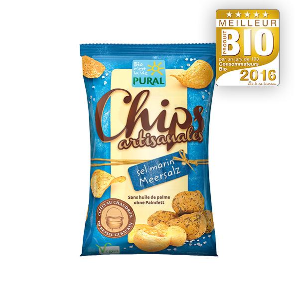 Chips de pommes de terre au sel marin