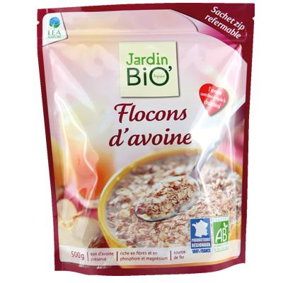 Flocons d'avoine (format familiale, sachet zip)
