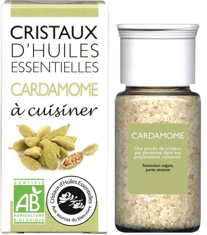 CRISTAUX D'HUILES ESSENTIELLES CARADAMOME AROMANDISE