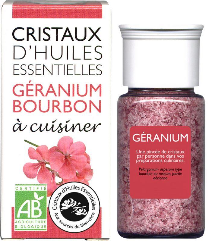 CRISTAUX D'HUILES ESSENTIELLES GERANIUM AROMANDISE