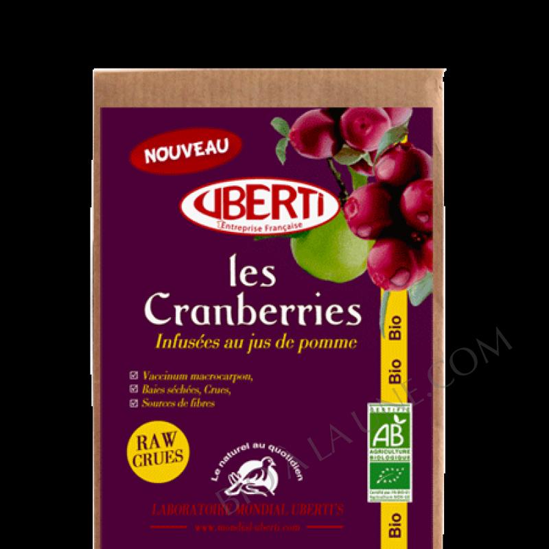 Cranberries infusés au jus de pomme