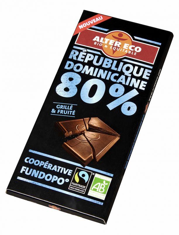Chocolat Noir République Dominicaine 80%