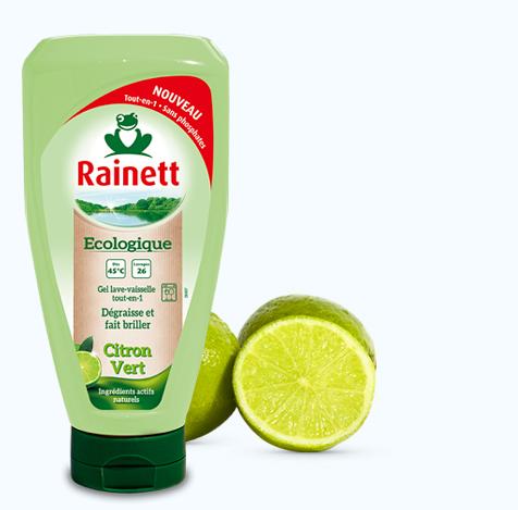 Gel vaisselle machine tout en 1 au citron vert