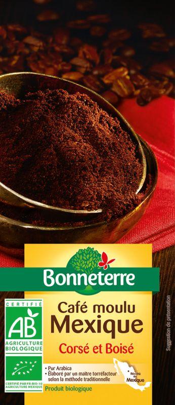 Bonneterre café bio moulu origine mexique