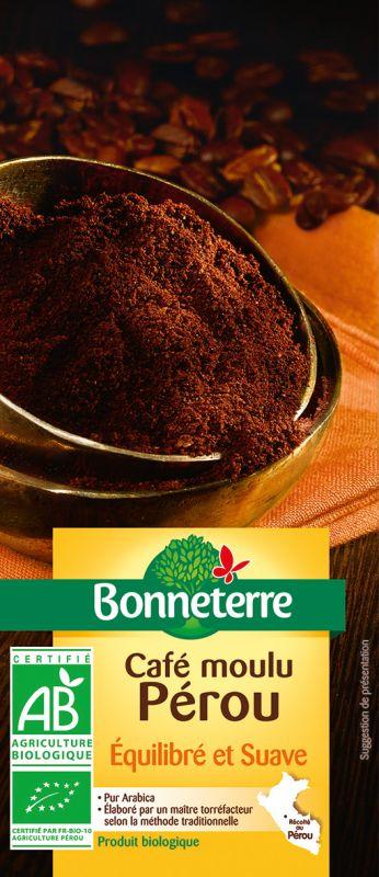 Bonneterre café moulu bio origine pérou