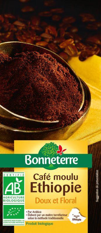 Bonneterre café bio moulu origine éthiopie