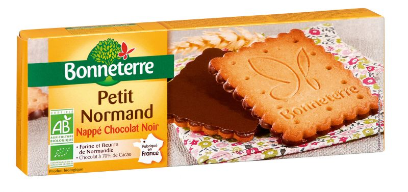 Bonneterre Petit Normand nappé chocolat noir