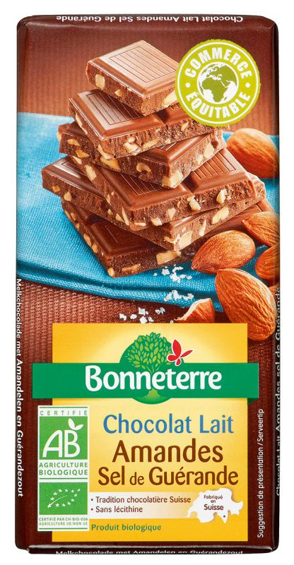 Bonneterre chocolat bio amandes sel de guérande
