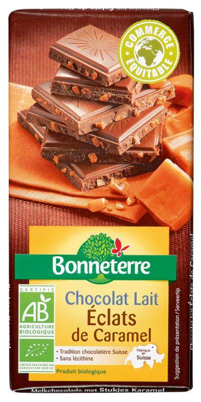 Bonneterre chocolat bio aux éclats de caramel