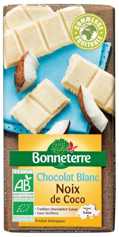Bonneterre chocolat blanc bio noix de coco