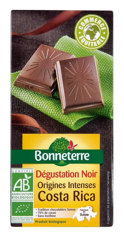 Bonneterre chocolat bio noir origine costa rica