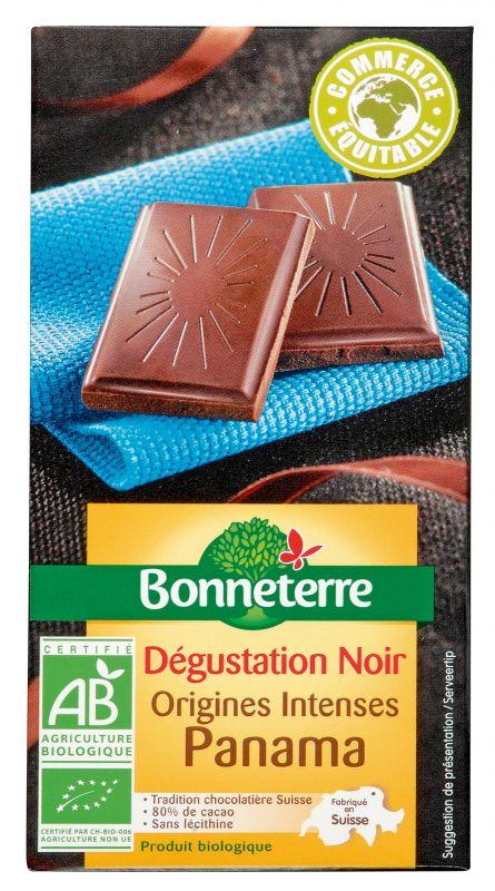 Bonneterre chocolat noir bio dégustation origine panama