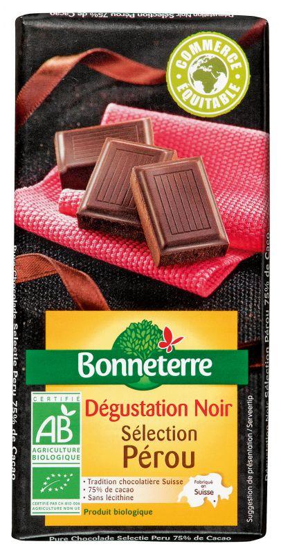 Bonneterre chocolat noir bio pérou 75%