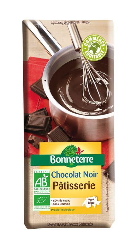 Bonneterre chocolat noir pâtisserie bio