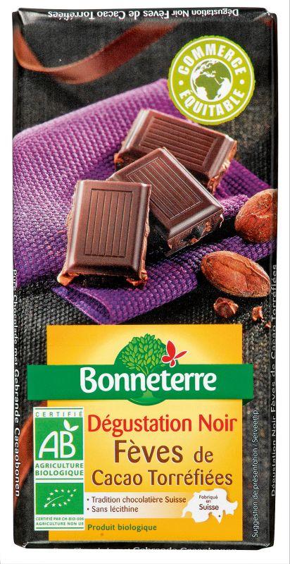 Bonneterre chocolat noir bio éclats de fèves de cacao torréfiées