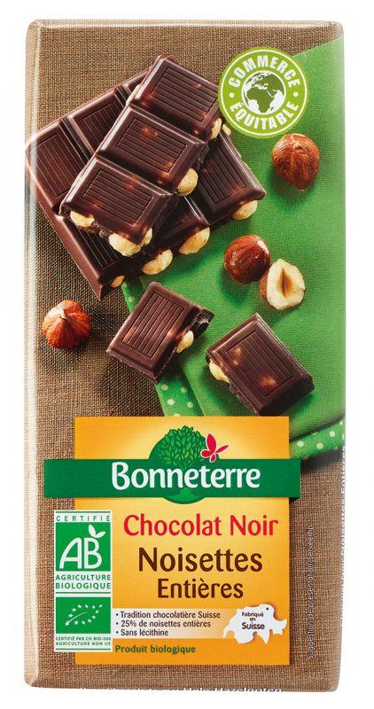 Bonneterre chocolat noir bio noisettes entieres