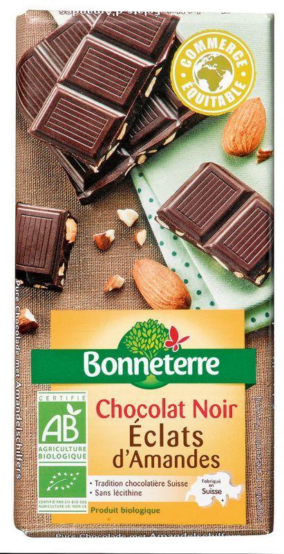 Bonneterre chocolat noir bio éclats d'amandes
