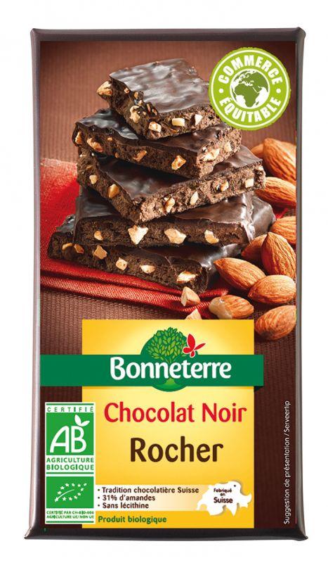 Bonneterre Chocolat noir bio rocher