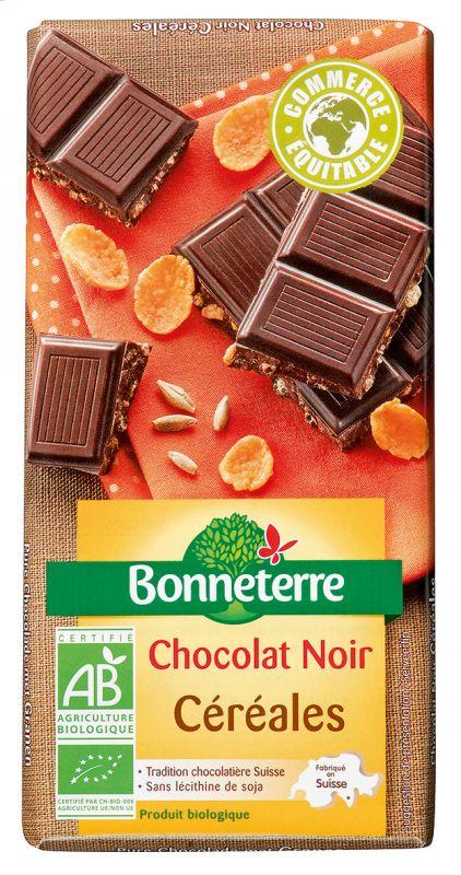 Bonneterre chocolat noir bio aux céréales