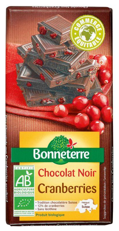 Bonneterre chocolat bio noir cranberries