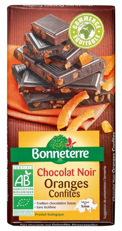 Bonneterre chocolat noir bio oranges confites