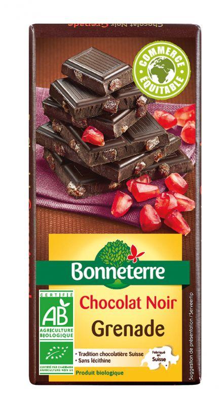 Bonneterre chocolat bio noir grenade
