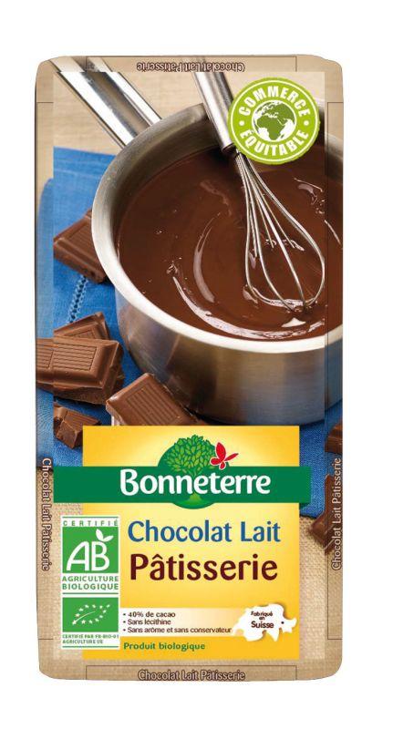 Bonneterre chocolat lait patisserie bio