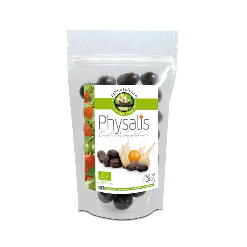 Physalis enrobées de chocolat noir bio