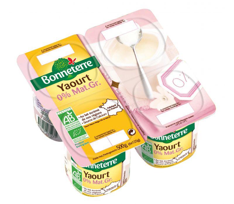 Bonneterre yaourt nature 0% bio