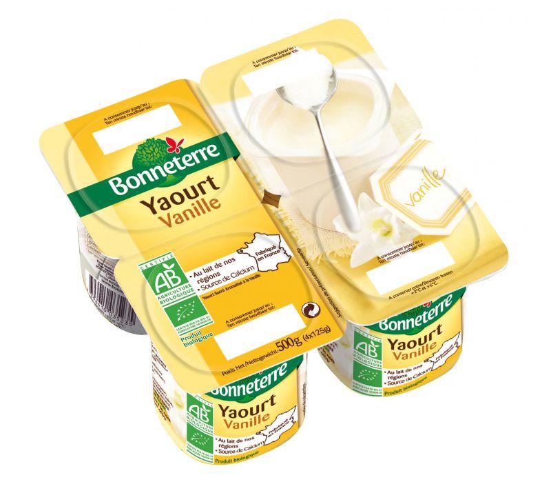 Bonneterre yaourt bio à la vanille