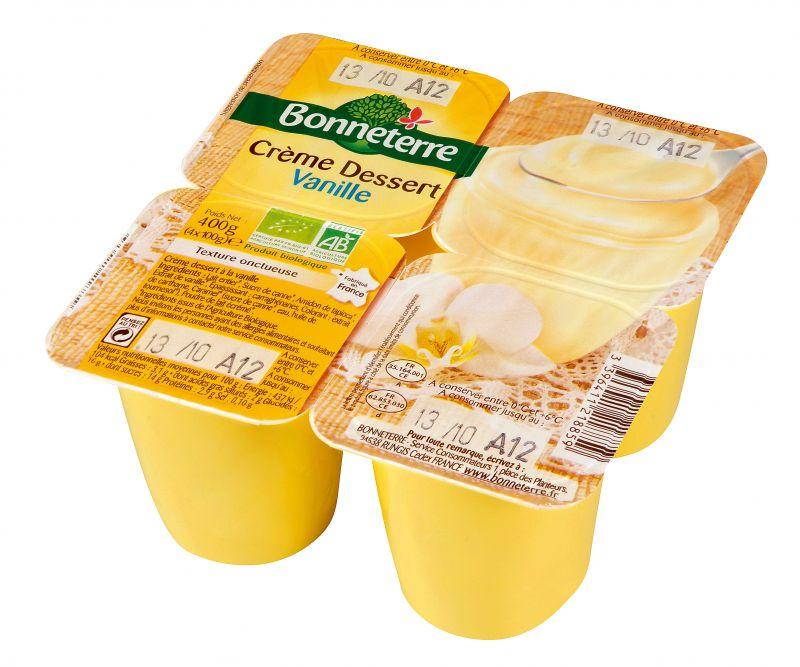 Bonneterre crème dessert bio à la vanille