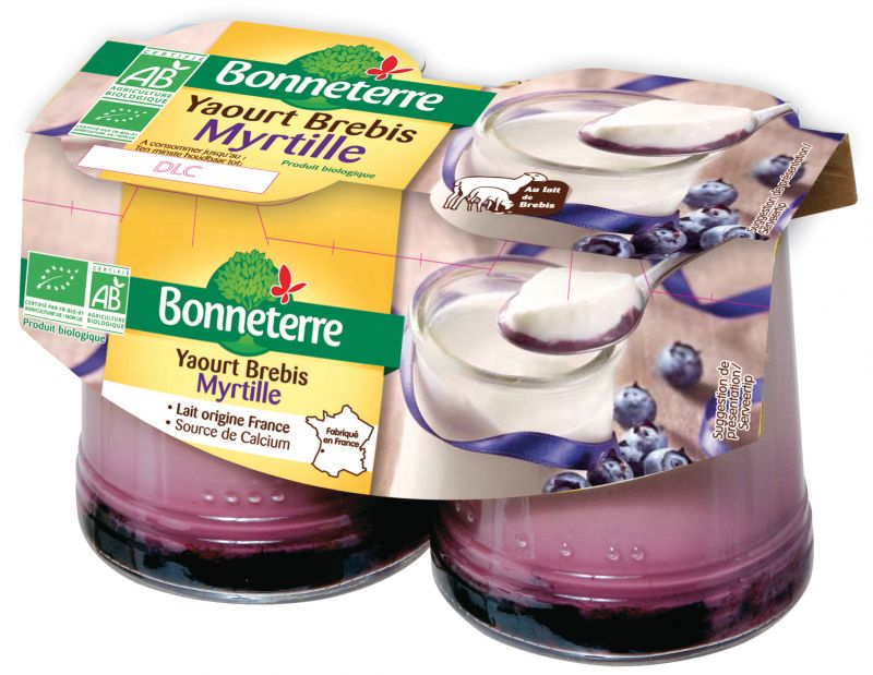 Bonneterre yaourt brebis bio myrtille