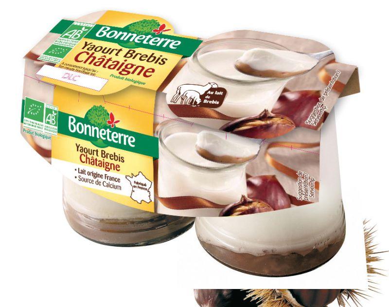 Bonneterre yaourt de brebis bio chataigne