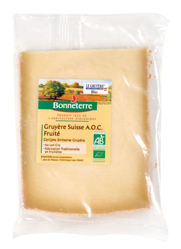 Bonneterre gruyère suisse AOC Bio