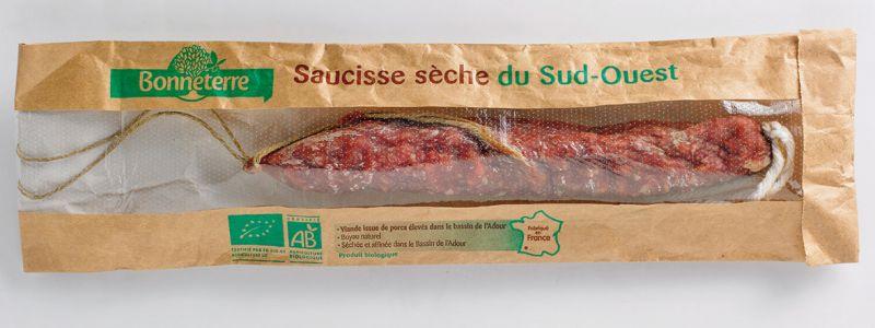 Bonneterre Saucisse sèche bio nature