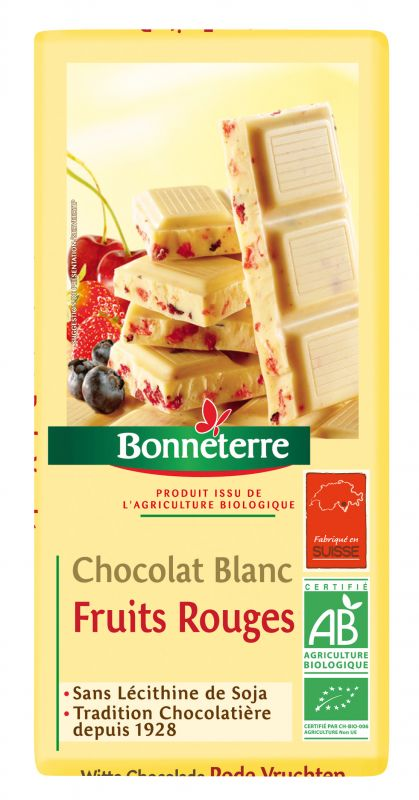 Bonneterre chocolat blanc bio fruits rouges