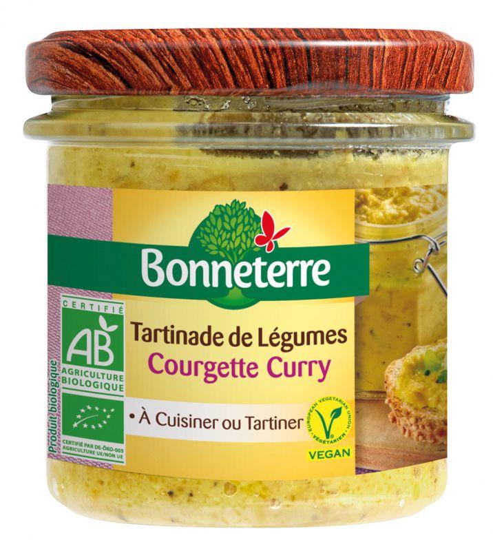 Bonneterre tartinable courgette curry bio vegan