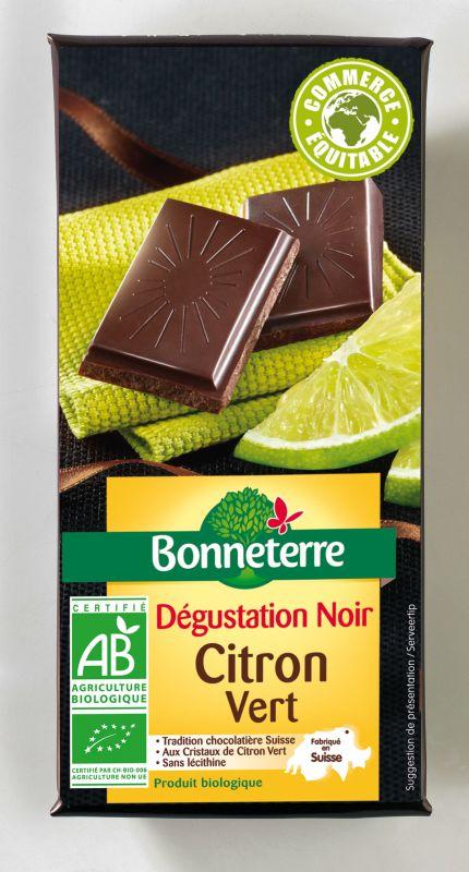 Bonneterre chocolat noir bio huile essentielle citron vert