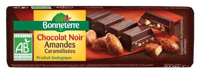 Bonneterre Barre chocolat noir bio amandes caramélisées