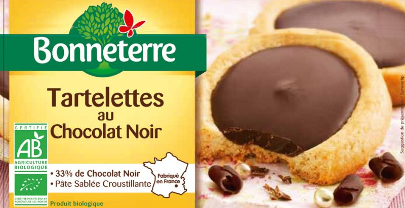 Bonneterre tartelette chocolat noir bio