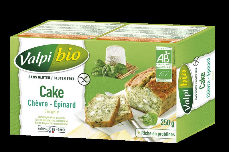 CAKE SURGELÉ CHÈVRE –EPINARD BIO ET SANS GLUTEN