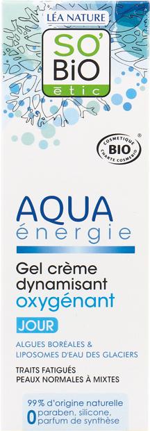 Gel crème dynamisant oxygénant, Aqua Energie